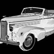 Black An White 1938 Cadillac Lasalle Pop Art Art Print