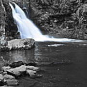 Black And Color Waterfall Art Print