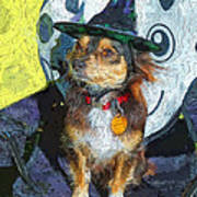 Black And Tan Chihuahua - Such A Good Little Witch Art Print