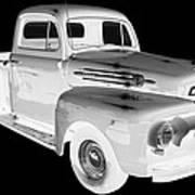 Black And White 1951 Ford F-1 Pickup Truck  Art Print