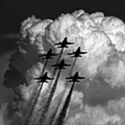 Black And White And Blue Angels Art Print