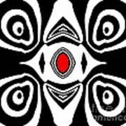 Abstract Black White Red Art No.213 Art Print