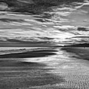 Black And White Beach Art Print