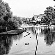 Black And White - Boathouse Row Art Print