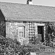Black And White Cottage Art Print
