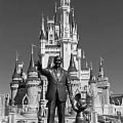 Black And White Disney And Mickey Art Print
