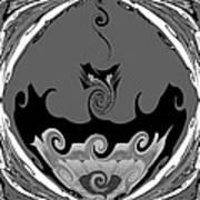 Black And White Explosion Art Print