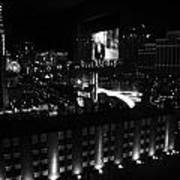 Black And White In Vegas Art Print
