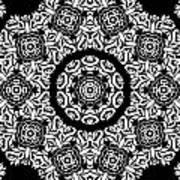 Black And White Medallion 10 Art Print