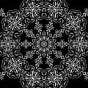 Black And White Medallion 11 Art Print