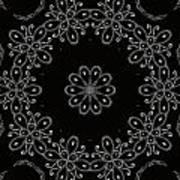 Black And White Medallion 4 Art Print
