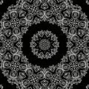 Black And White Medallion 6 Art Print