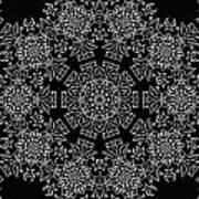 Black And White Medallion 7 Art Print