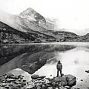 Black And White Mountain Landscape  Art Print
