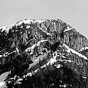 Black And White Mountain Range 1 Art Print by Diane Rada