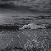 Black And White Ocean Wave 2014 Art Print