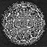 Black And White Oreo Art Print