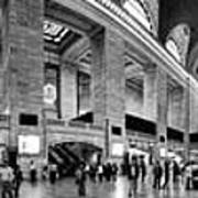 Black And White Pano Of Grand Central Station - Nyc Art Print by David Smith