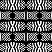Pattern Black White Art No.302. Art Print