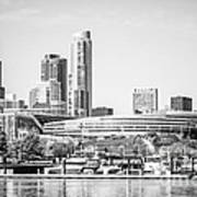 Black And White Picture Of Chicago Skyline Art Print by Paul Velgos