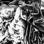 Black And White Ruffles Art Print