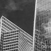 Black And White Skyscrapers Art Print