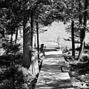 Black And White Walkway Art Print