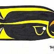 Black Bandit Art Print