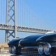 Black Cadillac In San Francisco Art Print
