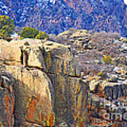 Black Canyon Warmed By The Sun Art Print
