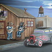 Black Cat Juke Joint Art Print