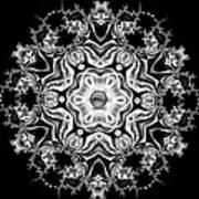 Black Diamond Princess Pendant Art Print