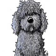 Black Doodle Dog Art Print