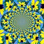 Black Eyed Susan Kaleidoscope Art Print