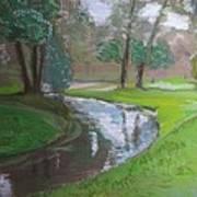 Black Hancza River Art Print