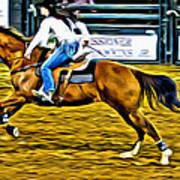 Black Hatted Racer Art Print
