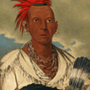 Black Hawk. Prominent Sauk Chief. Sauk And Fox Art Print