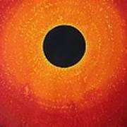 Black Hole Sun Original Painting Art Print