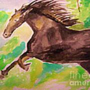 Black Horse Art Print by Sidney Holmes