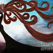 Black Magic Woman Art Print