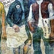 Black Panther Mural Berkeley Ca1977 Art Print