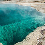 Black Pool In West Thumb Geyser Basin Art Print