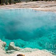 Black Pool In West Thumb Geyser Basin In Yellowstone National Park Art Print
