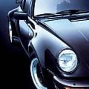 Black Porsche Turbo Art Print