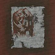 Black Rhino Art Print