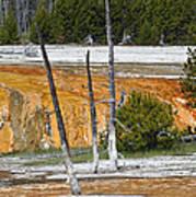 Black Sand Basin Therma Runoff Yellowstone Art Print