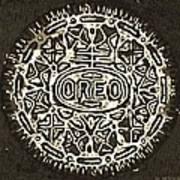 Black Sepia Oreo Art Print