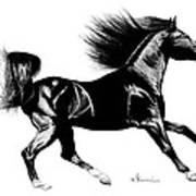 Black Speed Art Print