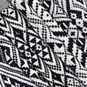 Black Thai Fabric 03 Art Print