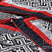 Black Thai Fabric 04 Art Print